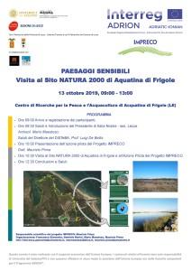 VISITA AL SITO NATURA 2000 DI ACQUATINA A FRIGOLE